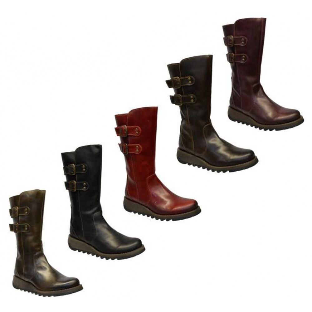 Grandes zapatos con descuento Fly London Suli Rug Womens Wedge Boots All Sizes in Various Colours
