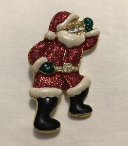 Christmas brooch Vintage Santa brooch holiday pin Christmas pin vintage Santa pin Christmas jewelry Santa pin RARE Santa brooch
