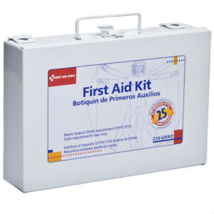 First Aid Only 224U First Aid kit 25 Person Metal Kit