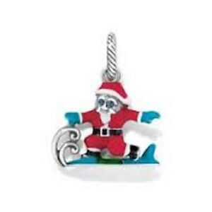 Brighton-Surfing-Santa-Christmas-Charm-Bead-NWOT
