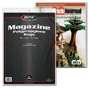 """1 Case of 1000 BCW 8 3/4"""" Magazine Storage Poly Bags Sleeves"""
