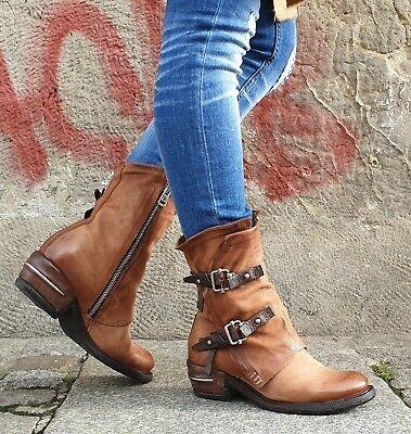 Pythonoptik Stiefelette Damen Schuhe Designer Echtleder braun schwarz GARDENIA