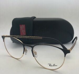 a022961981 New RAY-BAN Eyeglasses RB 6375 2890 53-18 145 Black   Gold Frames w ...