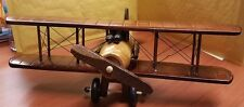 Hand-Crafted Wooden Antique 12 inch Aircraft Plane Aeroplane Gift uk