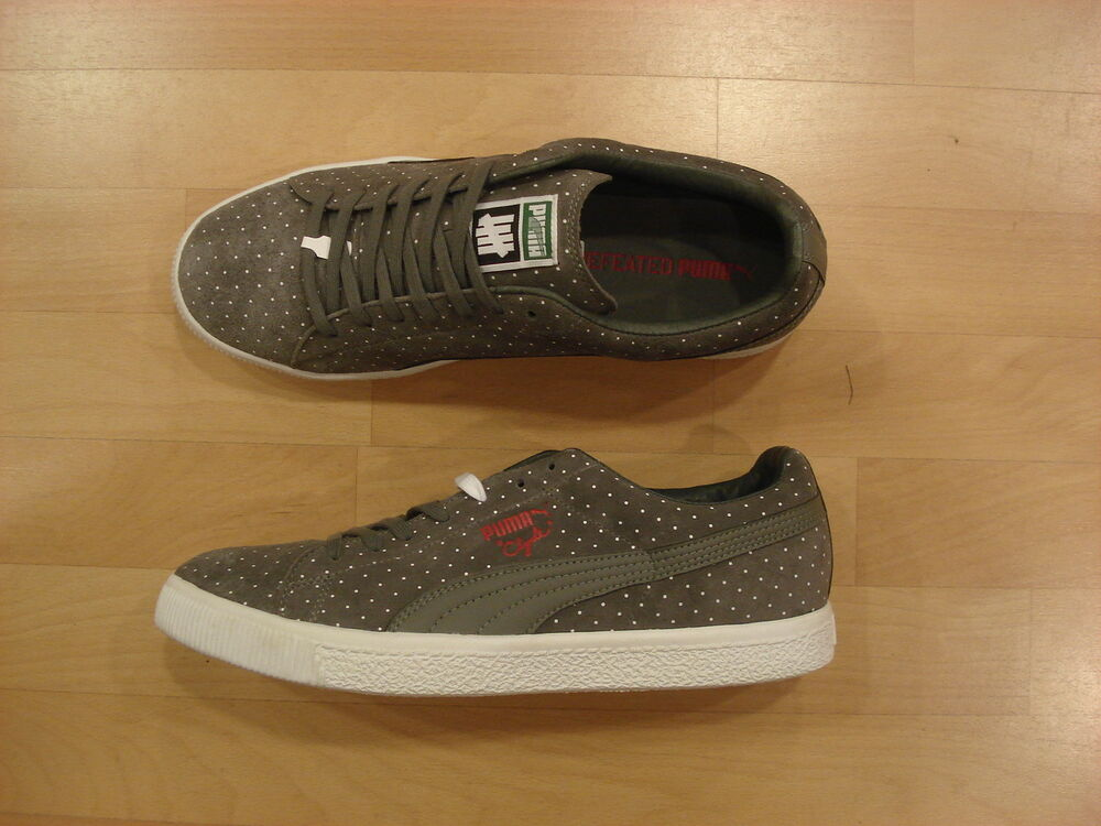 Puma Clyde x undefeated 44.5 micro-Dot steel Gris-