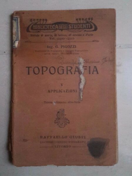 100% Vero Topografia Applicazioni V Pigozzi Biblioteca Degli Studenti 1920 Una Custodia Di Plastica è Compartimentata Per Lo Stoccaggio Sicuro