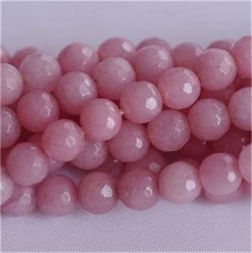 8 Mm à Facettes Rose Morganite Round Gemstone Loose Bead 15/'/'AAA