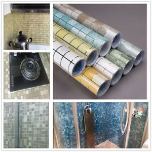 Kitchen-Self-adhesive-Oil-proof-Waterproof-Wallpaper-Mosaic-Tile-Stickers-Decor