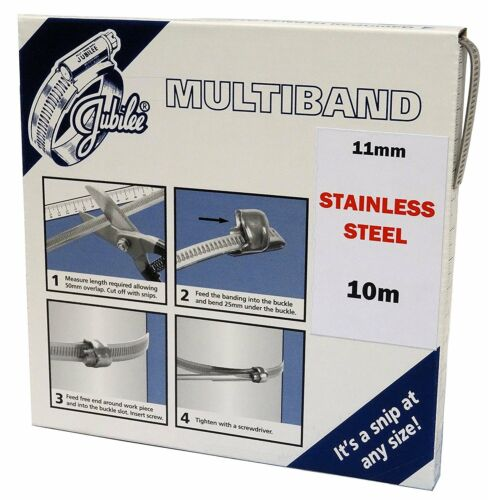 Jubilee® Multiband 11mm 304 Grade Stainless Steel Band Clip Clamp