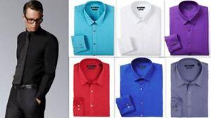88abb7e7 Mens Shirt Van Heusen Slim Fit Cotton Blend Easy Iron Long Sleeve ...