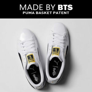 BTS PUMA New Sneakers Shoes Basket Made by BTS Official Goods Kpop ... 8b5028cdc