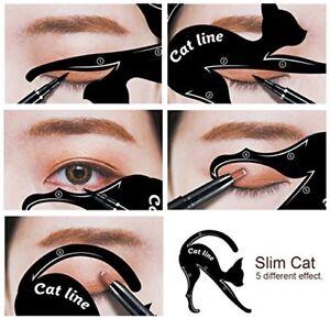Katze-Linie-Eyeliner-Lidschatten-2er-Set-wiederverwendbare-Stencil-Schablonen