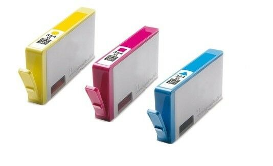 Remanufactured XL 3 Ink Chipped Cartridge Set for HP PhotoSmart 7520 e-AIO