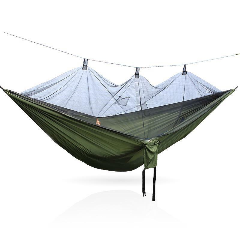 Mosquito Net Nylon Hammocks all'aperto Furniture For Two Person Hire Sleeping Bed