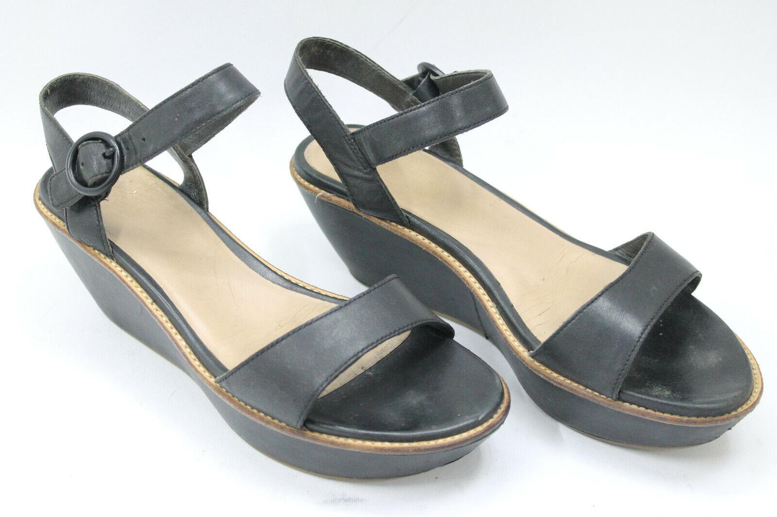 Camper Femmes Chaussures sz 8.5 EUROPE 39 en cuir noir S7646