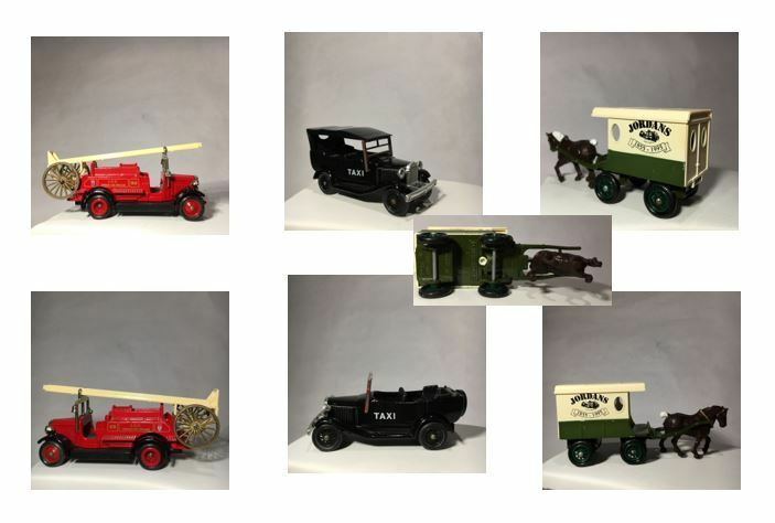 WOW - Nine 'Tin' Plate & Plastic Lledo Oxford Model Vehicles for One Great Price