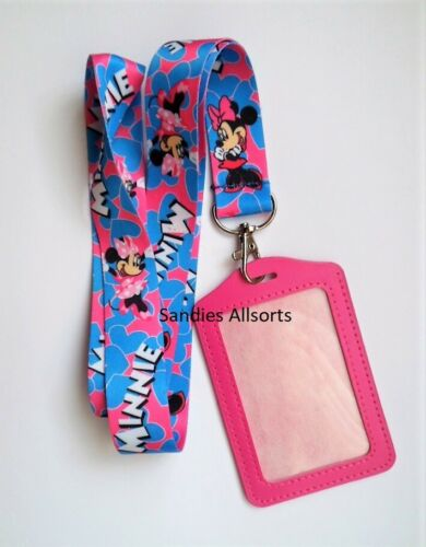 ID Business Card Holder Disney Minnie Mouse Lanyard Neck Strap Pass