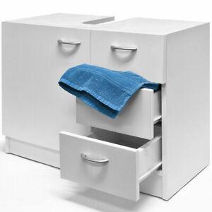 White Modern Bathroom Under Sink Cabinet Storage Unit ...