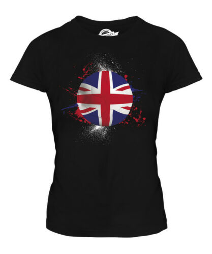 GREAT BRITAIN UNION JACK FOOTBALL LADIES T-SHIRT TEE TOP GIFT WORLD CUP SPORT