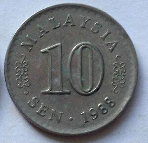 Parliament Series 10 sen coin 1988 (B)