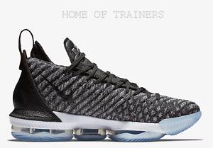 Nike LeBron 16 Black White Metallic Metallic Metallic Silver Men's Trainers All Sizes 00a367