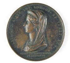 Luigi Manfredini Napoleonic bronze medal Death of Maria Ludovica 1816