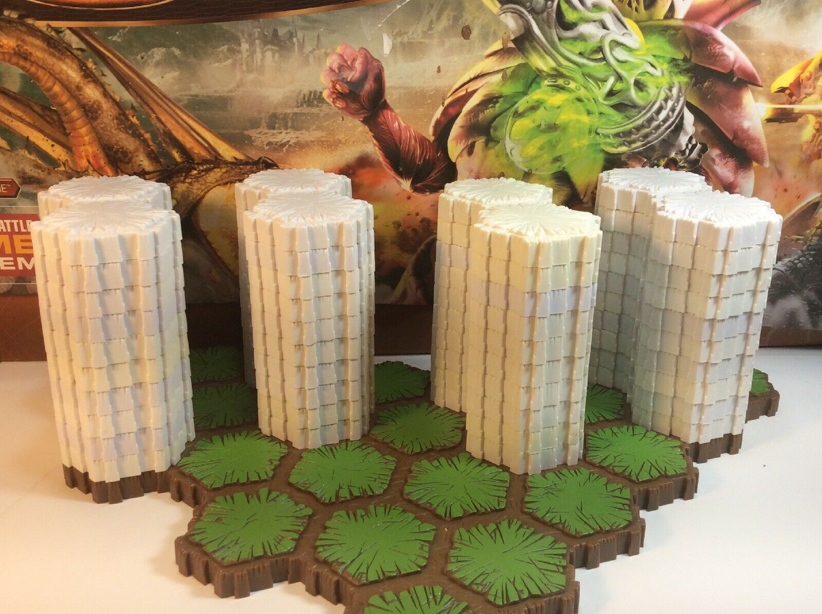 Heroscape 40 - 2 HEX Snow Tiles