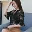 Verano-para-mujer-Floral-Casual-de-Gasa-Manga-a-Mitad-de-Superdry-holgado-Camiseta-Blusa-Camiseta miniatura 3