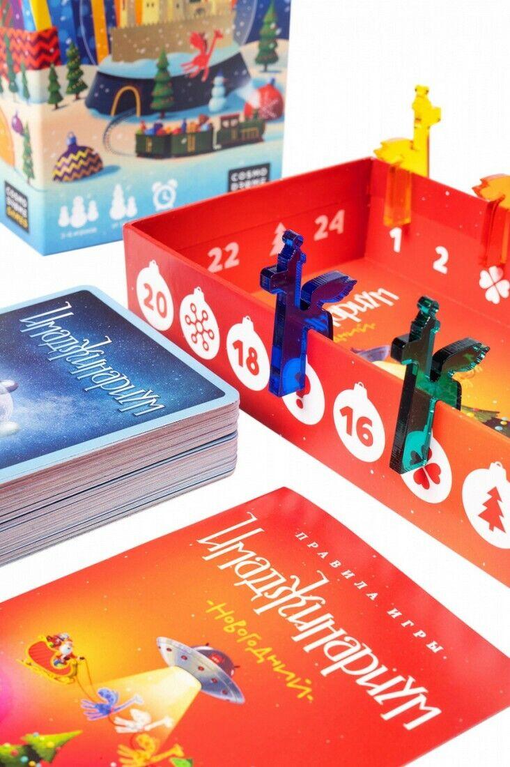 Настольная игра дорожная Имаджинариум Новогодний Imaginarium Board Game Russian