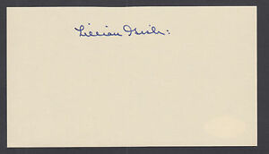 Lillian-Gish-American-film-and-stage-actress-signed-3x5-card-JSA-Cert