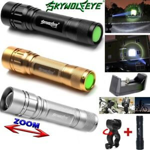 15000LM-3Mode-Hiking-Flashlight-T6-LED-18650-Zoomable-Torch-Mount-Bicycle-Light