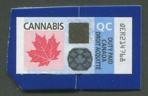 CANADA-REVENUE-QUEBEC-CANNABIS-DUTY-PAID-STAMP-USED