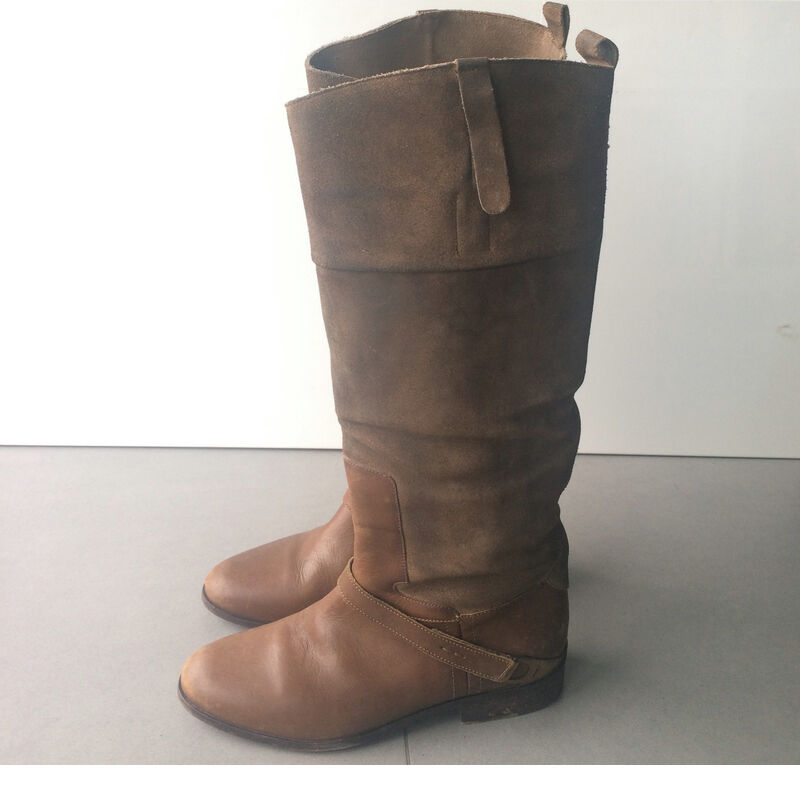 New GOLDEN GOOSE Olive Suede Leather BOOTS CHARLYE sz 39 us 9 Nib - Sale