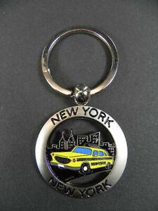 New York City Keyring Metal Keyring Taxi Yellow Cab, New