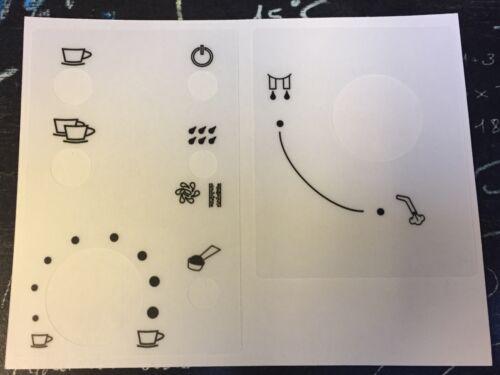 Jura Impressa E-Serie Tastensymbolaufkleber Transparent Matt