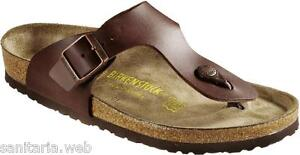 Image is loading Birkenstock-RAMSES-Dark-Brown-Brown-Slippers-Flip-flops- 9b2b89edd0a