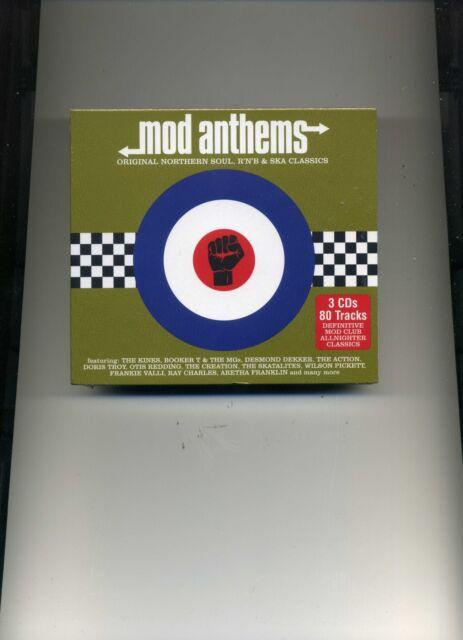 Mod Anthems & Factory 3 CD Digipak 80 Classic Tracks Various Artists
