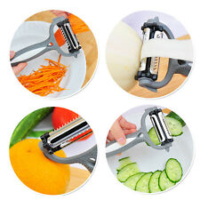 Vegetable Fruit Rotary Peeler Parer Julienne Cutter Slicer Kitchen 3in1 Tool New
