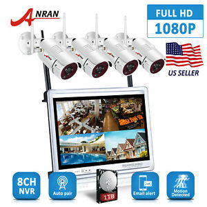 ANRAN-8CH-NVR-1TB-Wireless-CCTV-Camera-Security-System-12-034-Monitor-Outdoor-HDMI