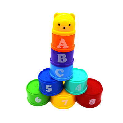 9pcs Stacking Cups Bathtub Toys Nesting Cups Baby Building Set for Kids Baby