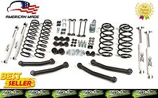 "1997-2006 Jeep Wrangler TJ LJ Full Suspension Lift Kit 4"" Zone Offroad J11 m/USA"