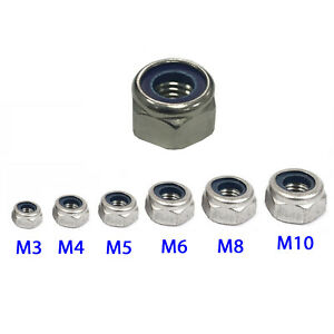 Self Locking Nut >> Details About Self Locking Lock Nuts A4 Marine 316 Stainless Steel Nyloc Nylon Insert Nut