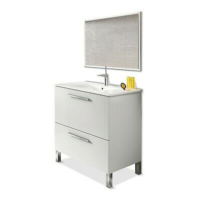 Mueble de baño, módulo de lavabo con espejo, Urban
