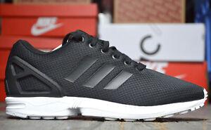 Activo Cap Médico  Adidas Zx Flux Deportiva para Hombre Zapatillas de Correr Negro Blanco    eBay
