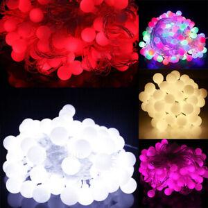 4-10M-LED-Lichterkette-Kugeln-Innen-Aussen-Party-Weihnachten-Garten-Beleuchtung