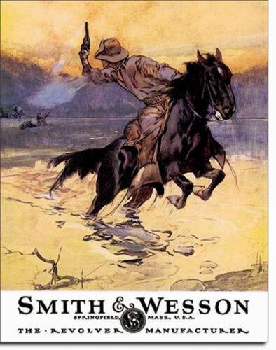 * Western Reiten Rodeo Reproschild S/&W Werbung USA Cowboy Pferde Motiv  *602