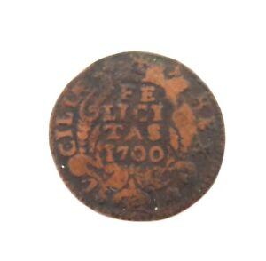 1700-CHARLES-II-SPAIN-NAPLES-MINT-FELICITAS