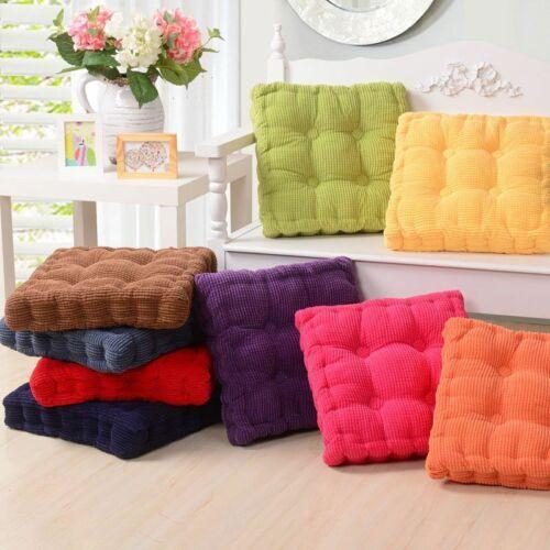 "3"" Thick Chair Corduroy Cushion Square Patio Living Room Floor Tatami Seat Pad"