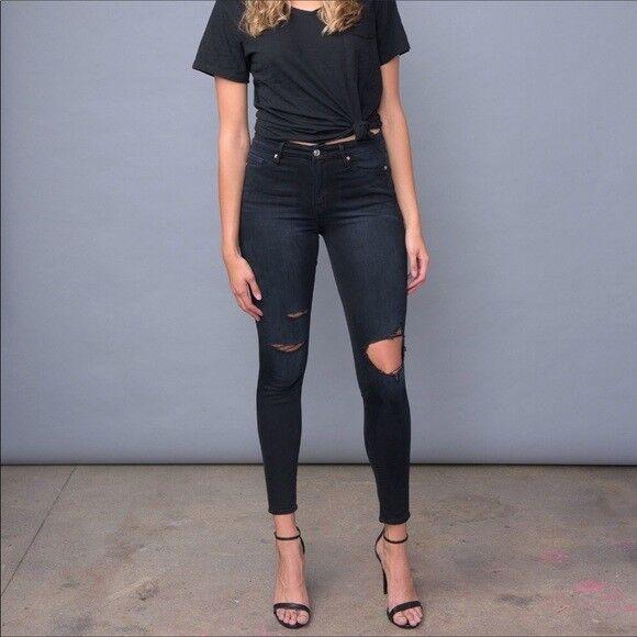 Nwt Good American Denim Good Legs Gagl899 Blue001 Skinny Jeans Sz:8 Women's Clothing