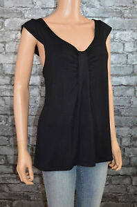 Women-039-s-Pretty-Black-Crew-Neck-Cap-Sleeve-Bow-Detail-Blouse-Top-UK-Size-6-8